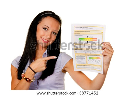Young woman with an energy (Austria) - stock photo
