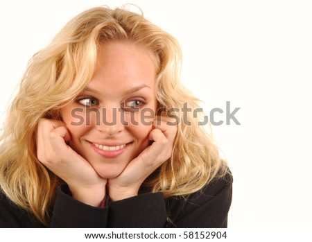 Young woman with beautiful smile. - stock photo
