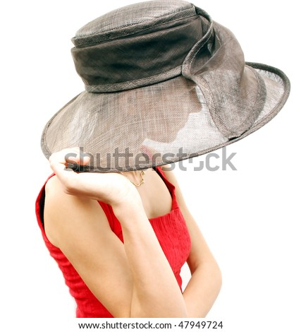 Young woman with hat - stock photo