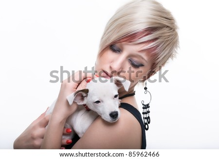 Young women and dog