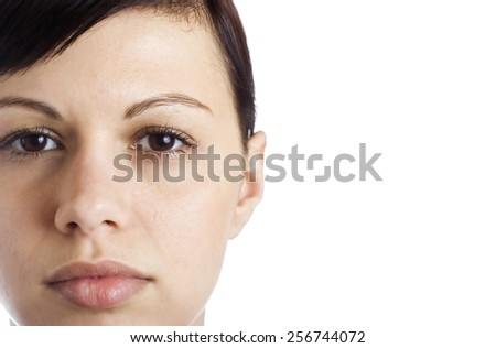 Young women's face - stock photo