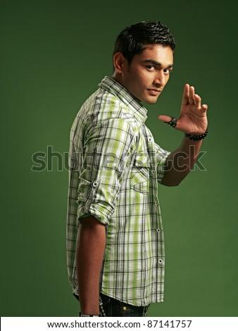 younge fashion man model - stock photo