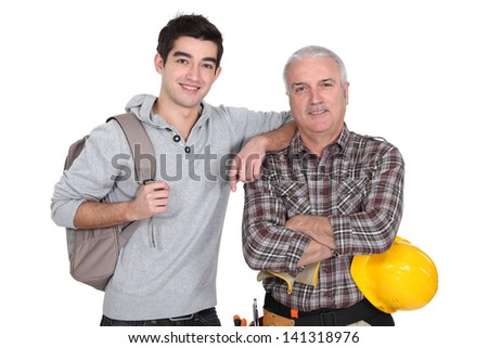 Younger and older men - stock photo