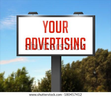 Your Advertising Outdoor Billboard - stock photo