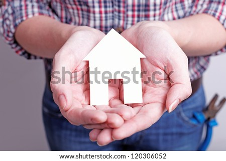 your dream home should be protected and love - stock photo