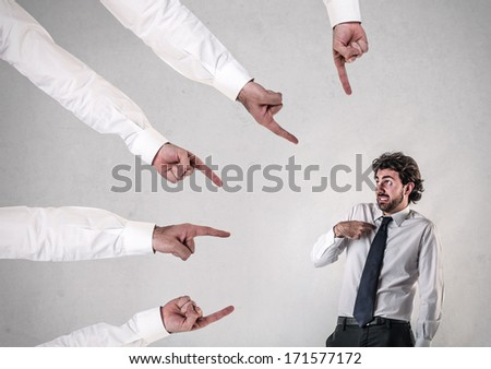 your fault  - stock photo