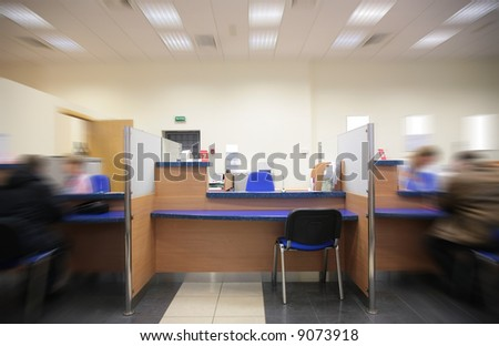 your place in bank - stock photo
