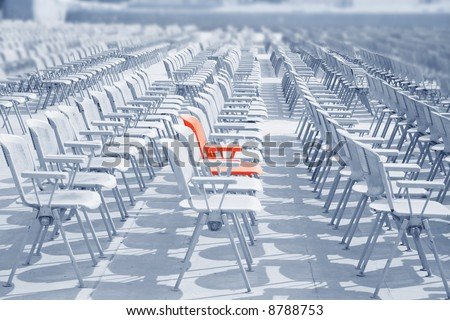 Your place in the visual hall - stock photo