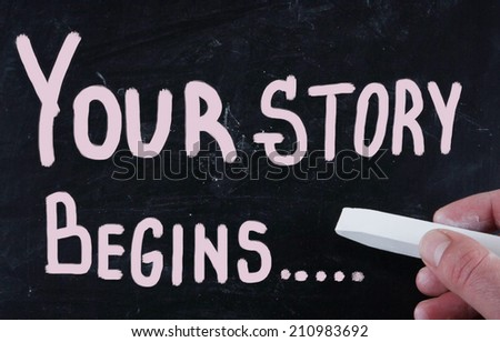 your story begins... - stock photo
