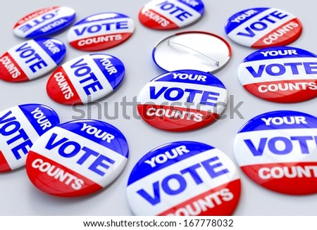 Your vote counts badges - stock photo