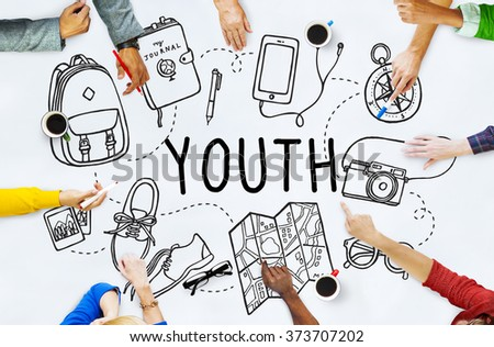 Youth Young Teens Minor Lifestyle Concept - stock photo