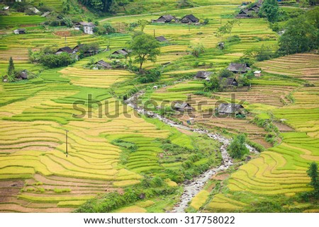 Yty Vietnam September 6 2015 Vietnam Paddy fields, terraced culture in Yty Laocai Vietnam.Yty is an attractive destination for tourists with the wild beauty in north Vietnam