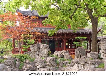 Yu Yuan - The Garden of Peace and Comfort, Shanghai, China - stock photo