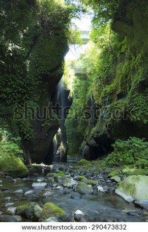 yufugawa valley, pita-prefecture japan - stock photo