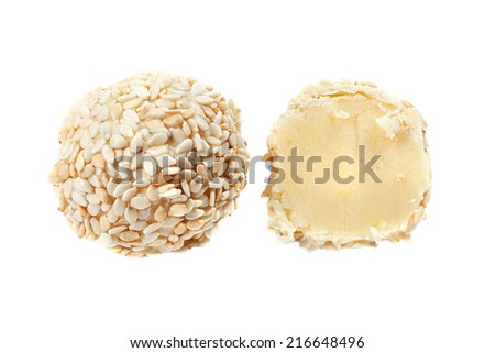 Yummy candy with sesame seeds - stock photo