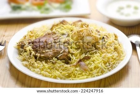 Yummy Chicken Biryani - stock photo