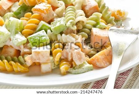 Yummy pasta salad - stock photo