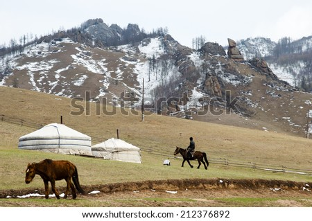 Yurts and Horses - Mongolia