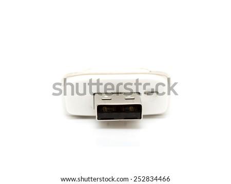 yusb modem on a white background - stock photo