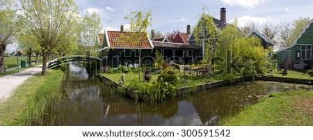 Zaanse Schans Town, Holland - stock photo