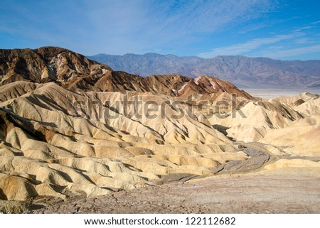 Zabriskie Point at the Death Valley National Park in the USA