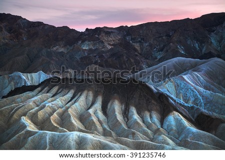 Zabriskie Point, Death Valley, National Park.