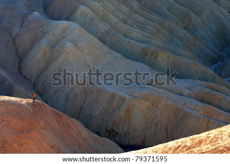 Zabriskie Point, Death Valley National Park - stock photo