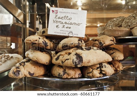 Zaetto Veneziano typical pastries as sold in Venice, Italy - stock photo