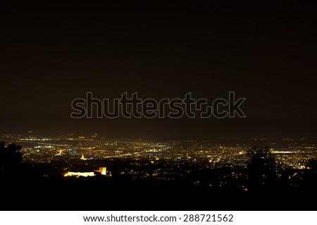 Zagreb at night. - stock photo