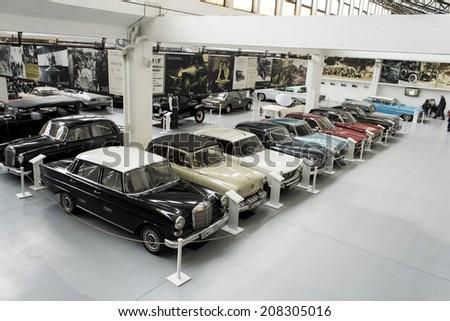ZAGREB, CROATIA -  FEBRUARY 23, 2014: Car museum Ferdinand Budicki, first car museum in Zagreb, Croatia - stock photo