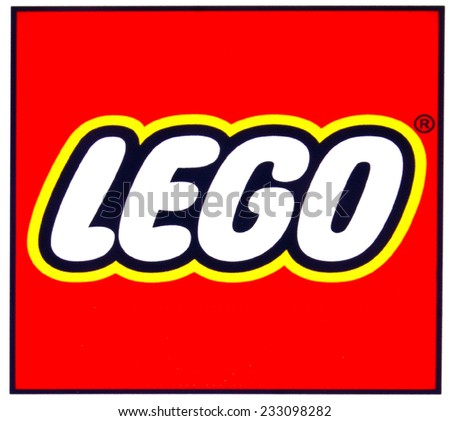 ZAGREB , CROATIA - NOVEMBER 25 , 2014 : Toy company LEGO logo printed on product ,product shot - stock photo