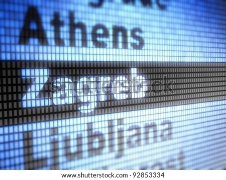 Zagreb. World capitals  Full collection of icons like that is in my portfolio - stock photo