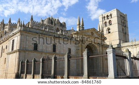 Zamora cathedral. Zamora is a city located in Castile-Leon community, Spain. It has a great romanesque legacy.