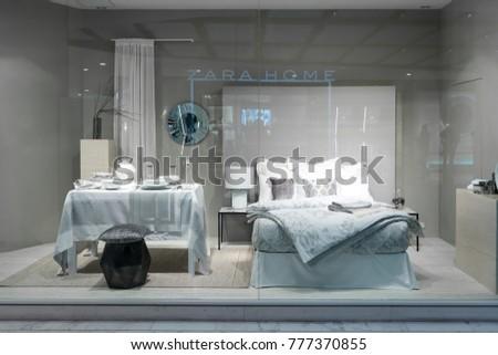 Zara Home Shop At Emquatier, Bangkok, Thailand, Oct 15, 2017 : Luxury
