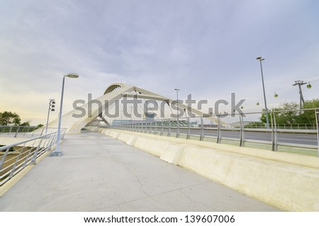 ZARAGOZA ,SPAIN-16 MAY : Bridge of the third millenium in Zaragoza on 16, May 2013. this bridge is one of the newest bridges over the Ebro river. Was built in 2008 for the international EXPO