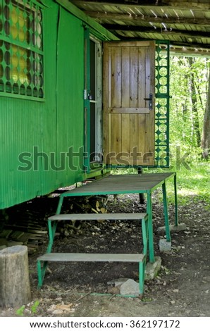 Zavet, Bulgaria - May 01, 2015: Penthouse at apiary  in the forest, Zavet, Bulgaria. Visit at forest by Zavet town in early summer.