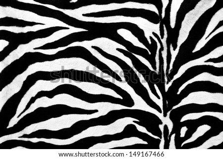 Zebra fur texture background - stock photo