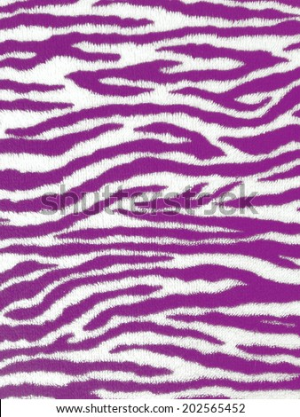 Zebra pattern cloth for texture - stock photo