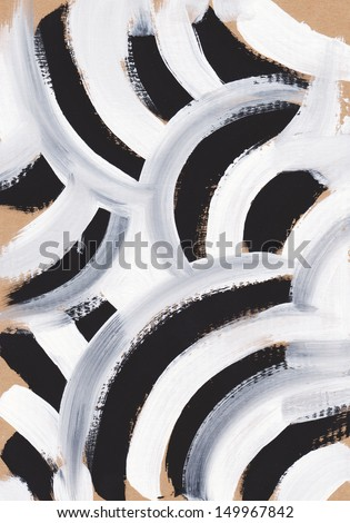 Zebra Pattern Painting Abstract Background  - stock photo