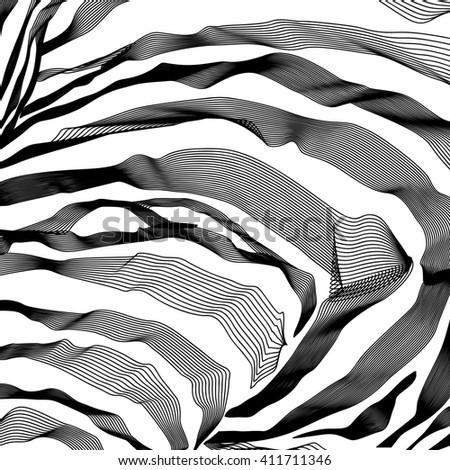 Zebra Stripes Pattern outline background. - stock photo