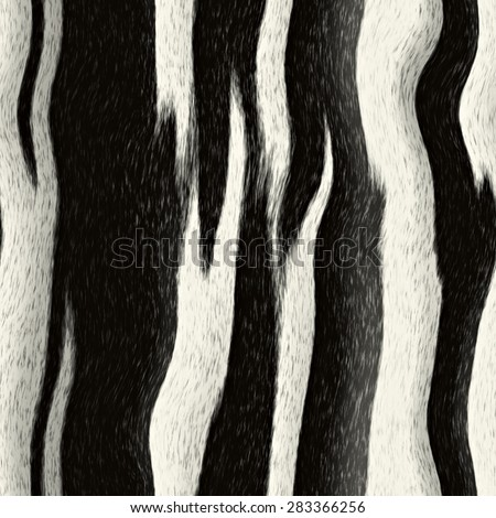 Zebra stripes pattern that tiles seamlessly as a pattern in any direction. - stock photo