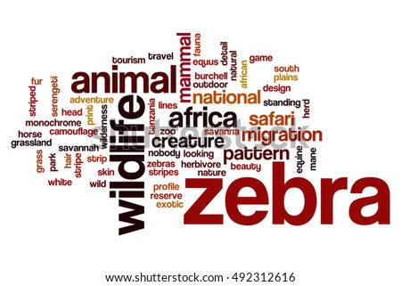 Zebra word cloud concept