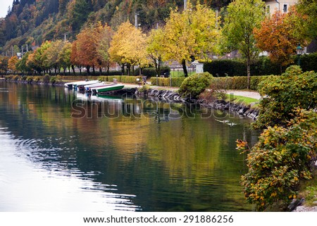Zell am See town and lake, Austria