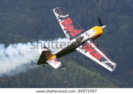 ZELTWEG, AUSTRIA - JULY 01:Edge 540 at the airpower11 airshow on July 01, 2011 in Zeltweg, Austria