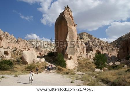 Zelve open air museum, Cappadocia, Turkey - stock photo
