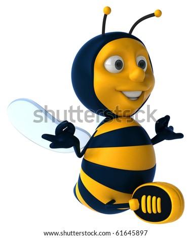 Zen bee - stock photo