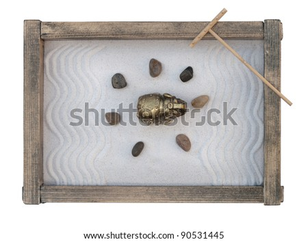 Zen Garden / isolated on white - stock photo