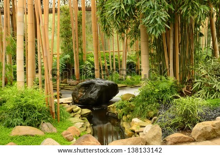 Zen garden of relaxation - stock photo