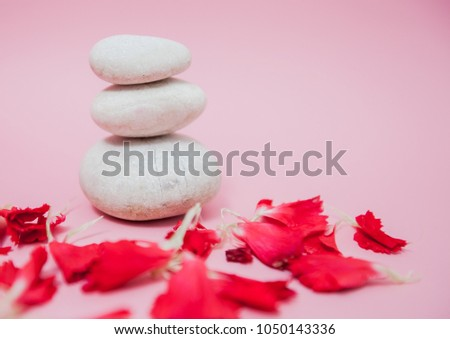 Zen harmony meditation,stacked of stone, spa lifestyle, with space for message