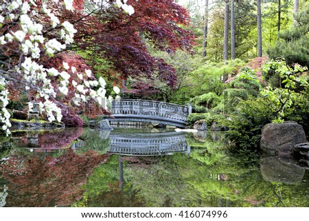Zen like Japanese gardens in Manito Park.